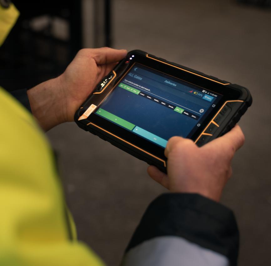 Crane Management Software on tablet