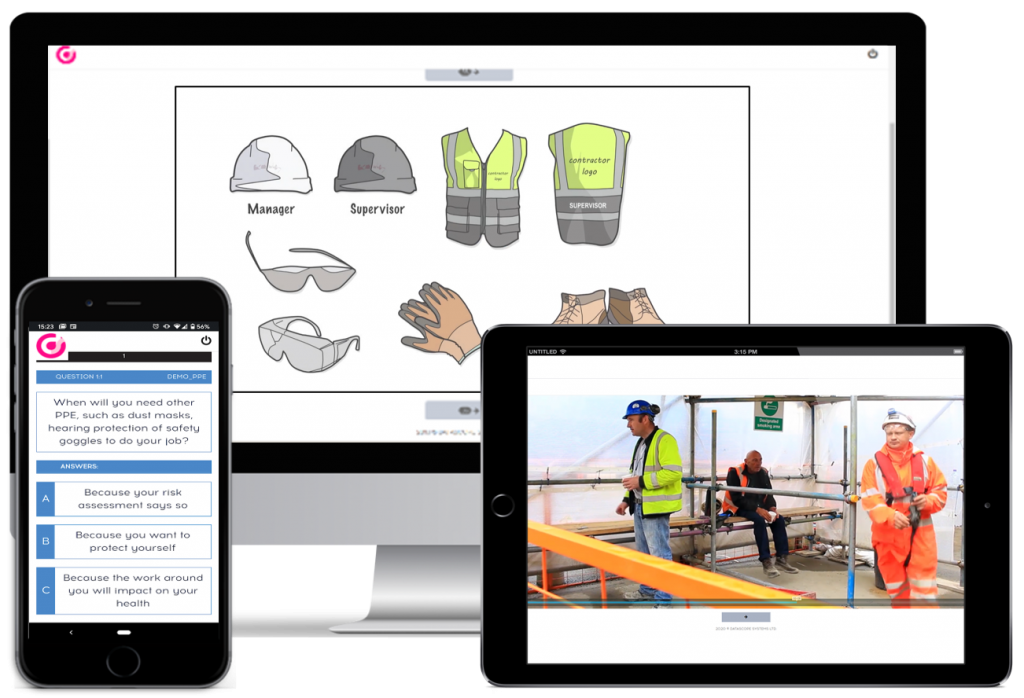 Online Induction software for construction sites