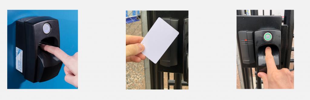 biometric turnstile access control