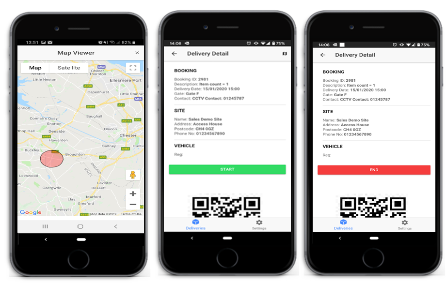 Haulier App, Management of Incoming Deliveries
