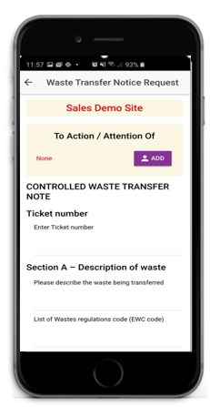 Construction Waste Management App